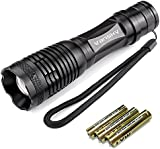 Vansky® 700 Lumen Cree Led Torch Pocket Torch Adjustable Focus Zoomable led flashlight Water Resistant Camping Torch, 3 x AAA Batteries Included