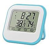 Thermomètre / Humidité avec Réveil Horloge Mini Huere Temp MIX/MAX Lumière de Fond Bleu...