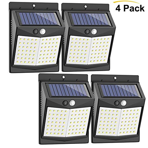 Z·Bling Solarleuchten Außen 70 LED Solarlampen für Außen mit Bewegungsmelder Solar Beleuchtung wasserdichte Wandleuchte Solarlicht Aussen 1800mAh mit 3 Modi für Garten, Wände [4 Stück]