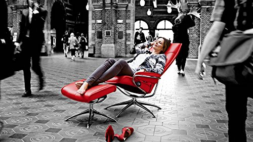 Stressless® City Sessel mit Hocker (M) High back Rot günstig - 2