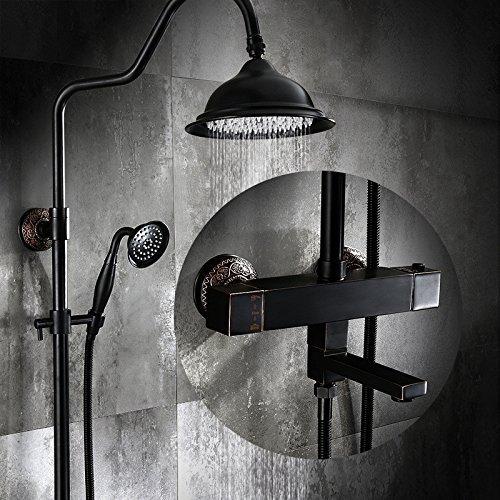 Dusche Wasserhahn Antiken konstante Temperatur sprinkler Schwarz smart Wasserhahn Europäischen voll Kupfer Dusche Set Bronze booster Dusche Dusche system