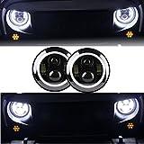 KITT hlu7inchb 17,8cm CREE LED-Scheinwerfer Angel Eye DRL TFL schwarz