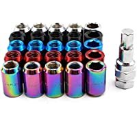 Anti-Theft Screw Grilled Blue BEESCLOVER M12 20Pcs//Set 1.5//1.25 Rays Grilled Blue Drive Lug Nuts Stainless Steel Wheel Nuts