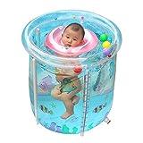 L&J Aufblasbare Baby planschbecken Baby-schwimmbad Sicherheit Baden badewanne Warm halten Ocean dream-A 65x70cm(26x28inch)