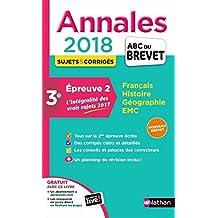 Maxi Annales 2018 - 2ème épreuve écrite Brevet
