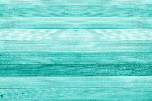 A1 | Türkis Holz Poster Kunstdruck 60 x 90 cm 180gsm - Strand Deck Gift # 15029