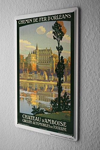 Cartello Targa In Metallo Tour Mondiale Francia Amboise Castello Piastra Insegna Metallica 20X30 cm - Castello Di Amboise