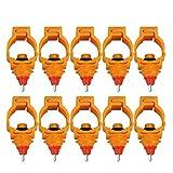 perfk 10 Pezzi Raccoglitore Automatico per Polpastrello Waterer Drinker Spring Clip Tipo Lavaggio