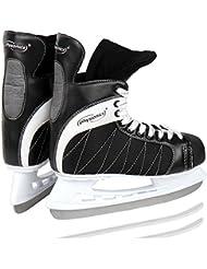 Physionics - Patines de hielo para hockey – negro/blanco – talla 46 – diferentes tallas a elegir