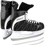 Physionics Eishockey Schlittschuhe Eislaufen in Schwarz in den Größen von 40 bis 46 (46)