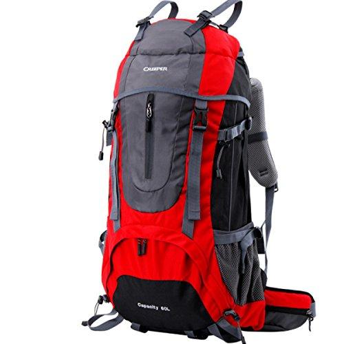 Professionelle Sport Bergsteigen Rucksack 60L Outdoor Reise Schulter Tasche Red