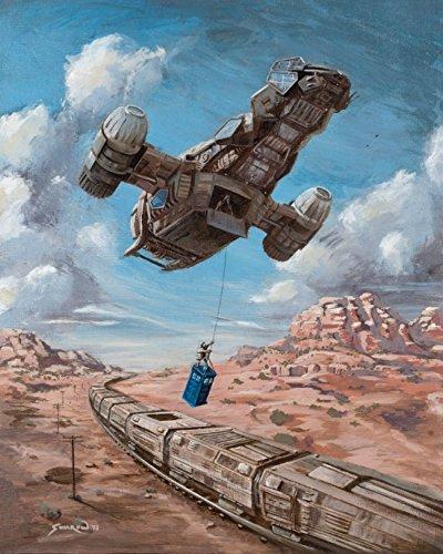 Bad Zeit, Gerahmt (wenyige8216die Zeit Tätigkeit Firefly Doctor Who Leinwand Wand Art, 12x 40,6cm)