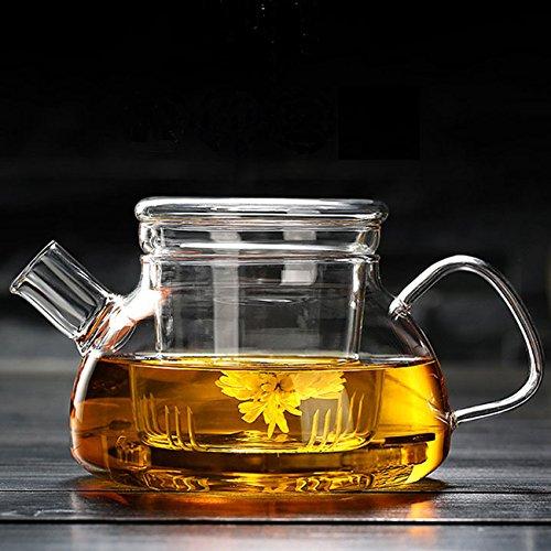 Cosy YcY - Théière en verre borosilicate avec infuseur à thé, théière ou cafetière en verre...