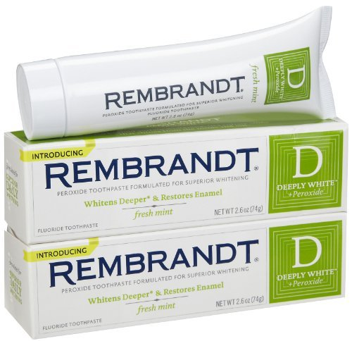 Rembrandt Deeply White Toothpaste, Mint 2.6 oz - 2 Pack