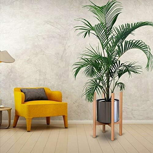 Pflanzenständer, Einstellbare Holz Blumentopf-Ständer Blumentopf-Halter für Garten, Wohnzimmer und Balkon, Höhe 41,5 cm (Ständer Holz Blumentopf)