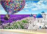 Wallpaper 3D Wallpaper Wallpaper Große Nahtlose Wandmalereien Schlafzimmer Wohnzimmer Der Globalen Landschaft Von Lavendel Burgmauern Zu Haus