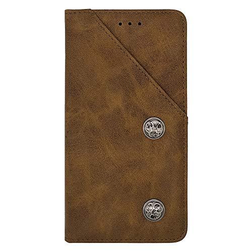 ZYQ Braun Retro Flip Echt Leder Tasche TPU Silikon Gel Schutz Hülle Für Elephone M2 Brieftasche Case Cover Etui Klapphülle Handytasche