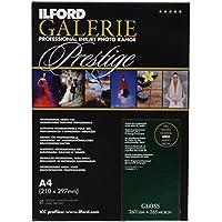 Ilford Galerie Prestige Gloss - Pack 25 Hojas de Papel A4, Color Blanco