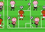 BRAUN COMPANY Geschenkpapier 2m x 70cm Fußball