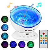[Projector Lamp Night Light Children] Delicacy Multifunctional Remote Control Romantic Ocean Wave Projector Bedroom Night Light Lamp Decoration Lighting for Baby Children Bedroom Living Room