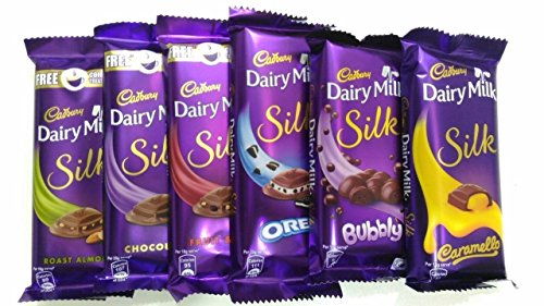 Throni Cadbury Dairy Milk Silk Pack Of 6 Combo,335Gms