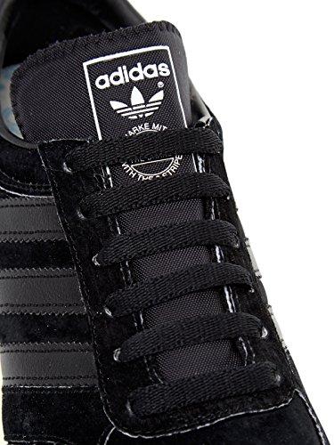 Basket, couleur Noir , marque ADIDAS ORIGINALS, modèle Basket ADIDAS ORIGINALS LA TRAINER OG Noir core black-core black-off white