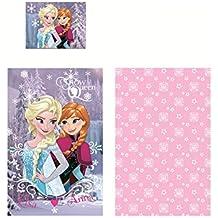 Frozen Anna Elsa Cartoon Juego Cama 140x 90cm Funda Nórdica 100% algodón Original Snow Queen Baby Disney