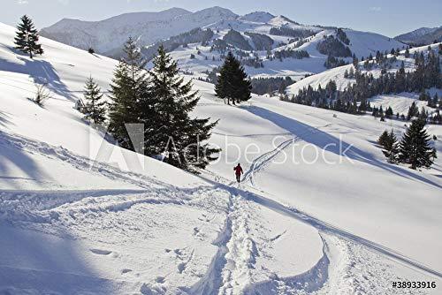 druck-shop24 Wunschmotiv: winterwandern mit schneeschuhen in Oberbayern am sudelfeld #38933916 - Bild auf Leinwand - 3:2-60 x 40 cm / 40 x 60 cm