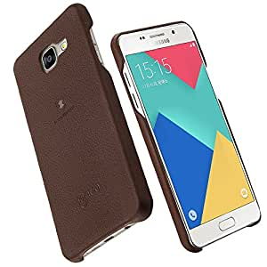 lenuo Premium Back cover for Samsung A5 (2016)(Brown)(Soft Leather)