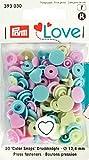 Prym Love Prym 393030 Herzform Color snaps Druckknopf Color KST 12,4mm Pink/Grün/Hellblau