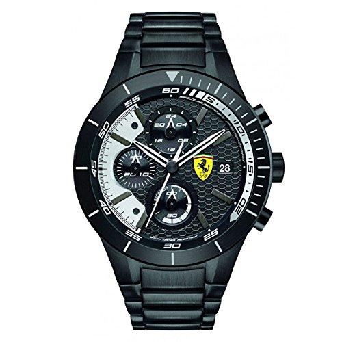 scuderia-ferrari-0830267-montre-homme-quartz-chronographe-cadran-noir-bracelet-acier-plaqu-noir