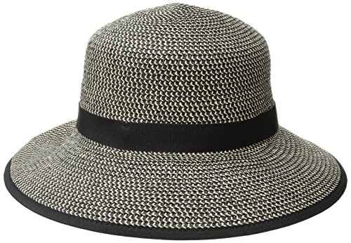 physician-endorsed-womens-pitch-perfect-straw-sun-hat-rated-upf-50-black-tweed-one-size