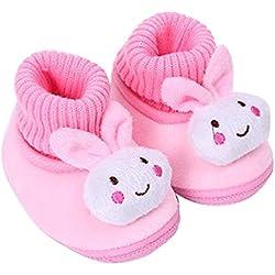 Malloom Säugling Babyschuhe Gehen Kleinkind Mädchen Jungen Krippe Schuhe Weich Stiefel (14, rosa)