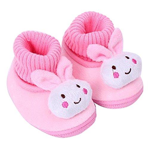 Malloom Säugling Babyschuhe Gehen Kleinkind Mädchen Jungen Krippe Schuhe Weich Stiefel (14, rosa) (Keile Wasserdicht Wildleder)