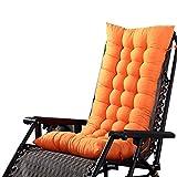 Chlove Stuhlauflage Hochlehner Auflage Sitzauflage Polsterkissen Rückenkissen mit Bänder (125 x 48 cm, Orange)