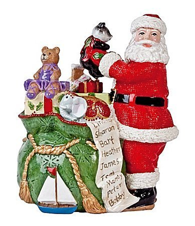 Fitz & Floyd Santa with Toy Bag Musical Figurine by Fitz and Floyd Fitz Floyd Santa