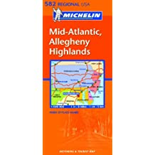 Carte REGIONAL Mid Atlantic, Allegheny Highlands  USA