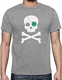 Green Turtle T-Shirts Irish Clover Skull ST. Patrick's Day T-Shirt