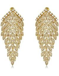 shazé Crystal Fronds Earring|Earrings For Women|Earrings For Women Stylish
