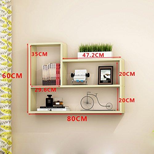 CLOTHES UK- Kreative Wohnzimmer Wandhalterung Bücherregal Moderne Einfache Wand Bücherregal Schrankwand Regale 80x60x15 cm Regal ( Farbe : B ) (Regal Schrankwand)