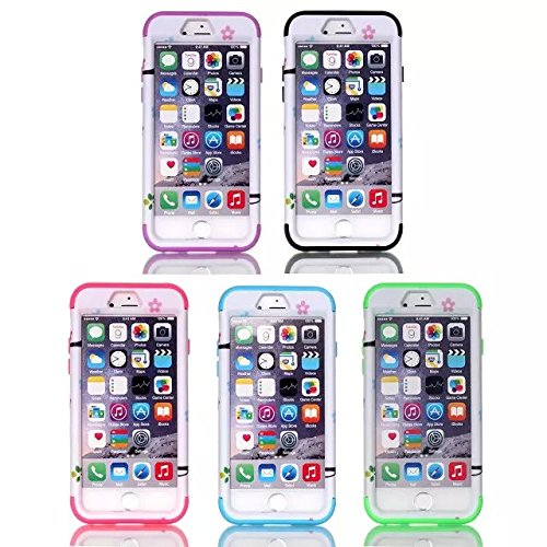 iPhone 6s Fall, iPhone 6 Fall, Lantier Hybrid Heavy Duty Rugged Hard Case mit harter PC + Innen Silikon Shell Shockproof Abdeckung für Apple iPhone 6 / 6S 4,7 Zoll (Love Startseite Eule Schwarz) Love Home Owl Purple