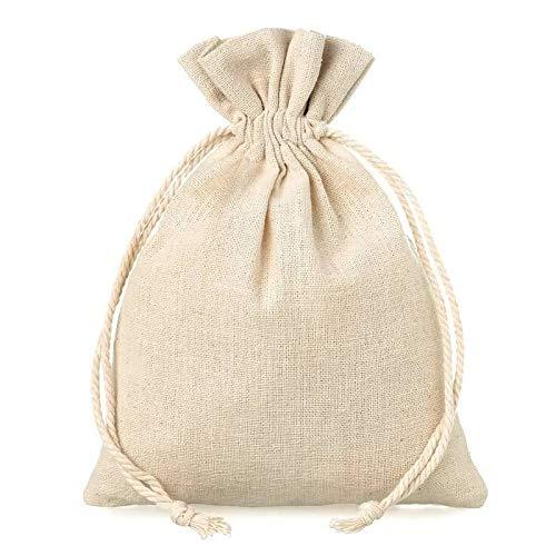 10 Sacos pequeños lino cuerda guardar regalos eventos