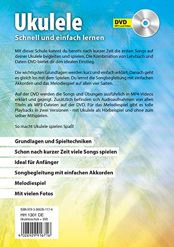CASCHA HH 2036 DE Premium Mahagoni Konzert Ukulele Bundle mit Ukulelenschule, Stimmgerät, gepolsterter Tasche, 3 Picks und Aquila Qualitäts-Saiten - 13
