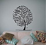 Pegatinas de pared,Árbol árbol genealógico 57x70cm Diy extraíble etiqueta de la pared arte para el hogar calcomanías murales habitación infantil cocina vinilo festival regalo