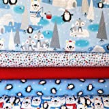 Studio E Stoffbündel für Weihnachten, Motiv: Polartiere,
