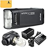 Godox AD200 TTL 200Ws 2.4G HSS 1/8000 Pocket Flash Light Doppia Testa con 2900mAh Litio Batteria e Custodia per Canon Nikon Sony DSLR Fotocamera(AD200)