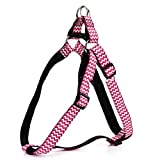 Pet chest strap Haustier Brustgurt Nylon Wellenmuster Einfach Komfortable Durable Multicolor Selection (Farbe : Rose, größe : L)