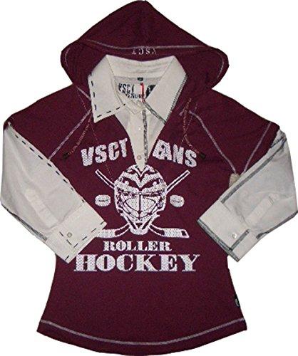 VSCT Hooded 2in1 Shirt Roller Hockey Weinrot-Weiß Art.-Nr.56586 Größe XS (Bekleidung Roller Hockey)
