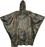Regenponcho aus Rip Stop flecktarn, Gr. 144 x 205 cm und 9 weiteren Farben Farbe Flecktarn