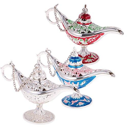 Sharplace 3pcs Boîte Bijoux Design Lampe en Fleur Ajourée Décoration Maison Brûleur Lampe à Huile Essentiel